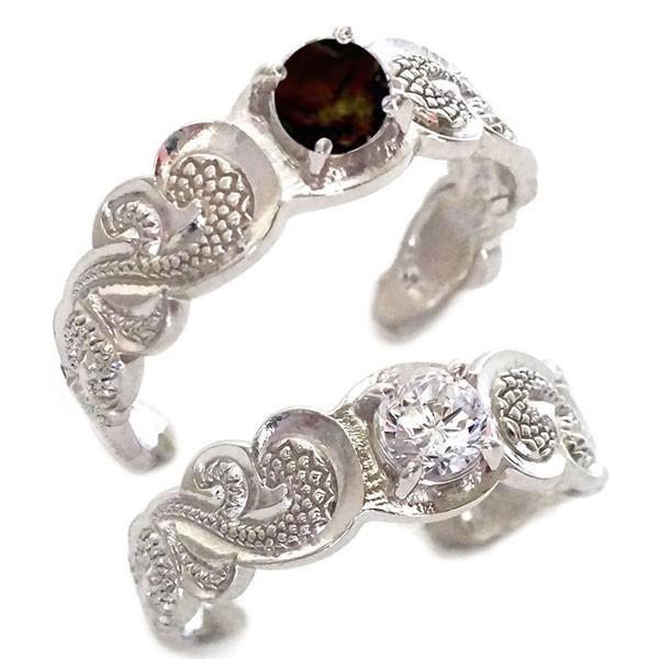 74b7e8c7a8 ハワイアンジュエリー ペアリング 2本セット ホワイトゴールド 結婚指輪 マリッジリング SIクラス ダイヤモンド ...