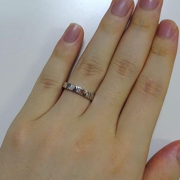 ダイヤモンド ホワイトゴールド K10 結婚指輪 ペアリング マリッジリング  2本セット K10wg ダイヤ