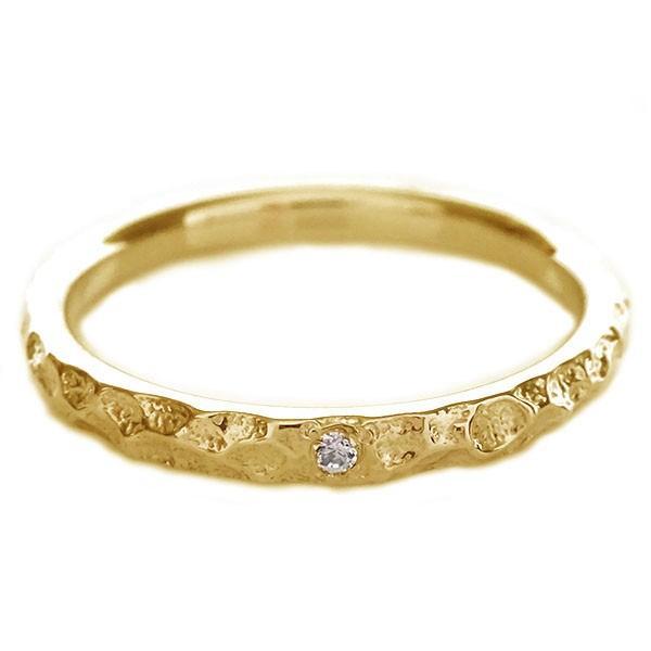 ダイヤモンド ピンクゴールドk10 結婚指輪 ペアリング マリッジリング  2本セット K10pg