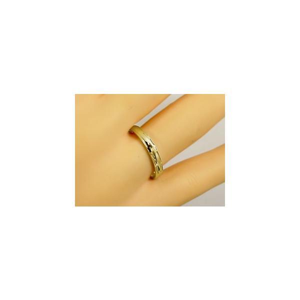 ダイヤモンド イエローゴールド ペアリング 結婚指輪 マリッジリング 2本セット K18 指輪 ダイヤ 0.10ct