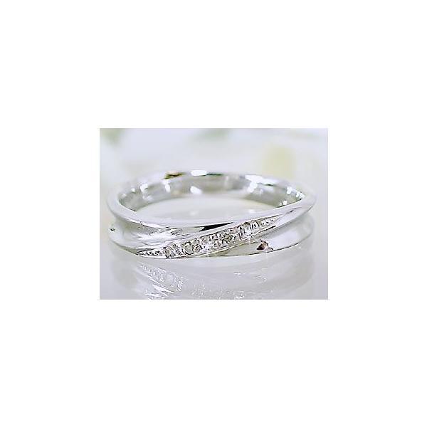 シルバー ペアリング 結婚指輪 マリッジリング 2本セット 天然 ダイヤモンド 0.02ct SV925 ストレート カップル|ma38|02