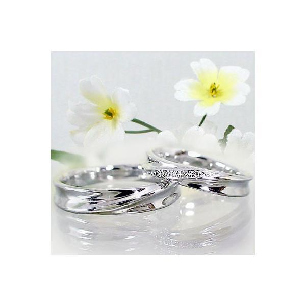 シルバー ペアリング 結婚指輪 マリッジリング 2本セット 天然 ダイヤモンド 0.02ct SV925 ストレート カップル|ma38|06