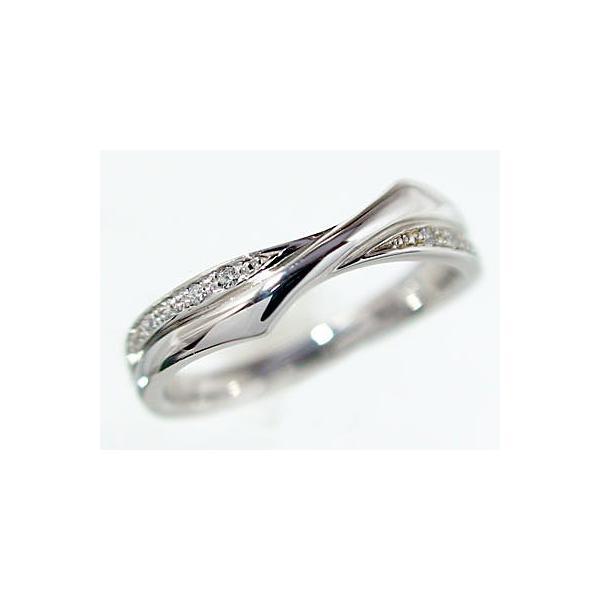 ダイヤモンド ホワイトゴールド ペアリング 結婚指輪 マリッジリング 2本セット K18wg ダイヤ 0.08ct