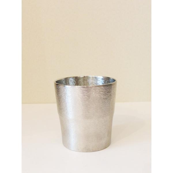 錫の酒器 鎚目タンブラー|maaoyama