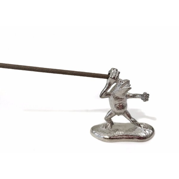 鳥獣戯画 鋳物の蛙の香立て Insence holder frog|maaoyama