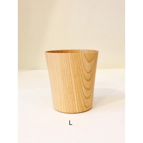 木のコップ KAMI Wide glass W-L 高橋工芸|maaoyama
