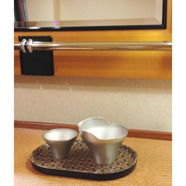 箱根寄木細工のトレー 八重麻の葉模様 白 楕円|maaoyama|05