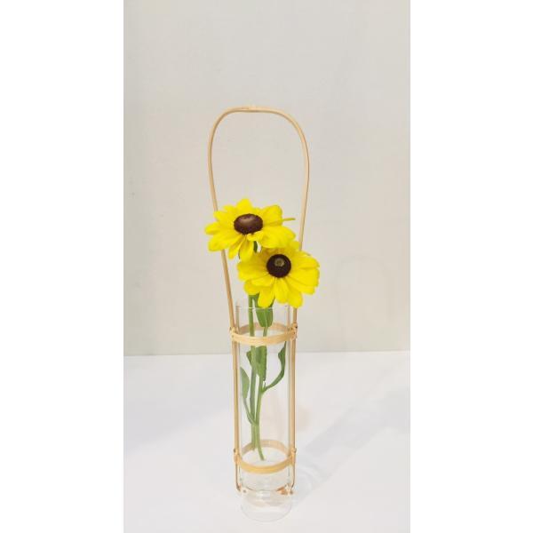 竹製 通い筒 花入れ 花器 花瓶|maaoyama