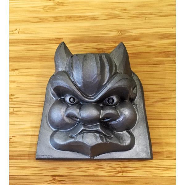 鬼瓦 ミニ壁掛け面 ペーパーウェイト|maaoyama