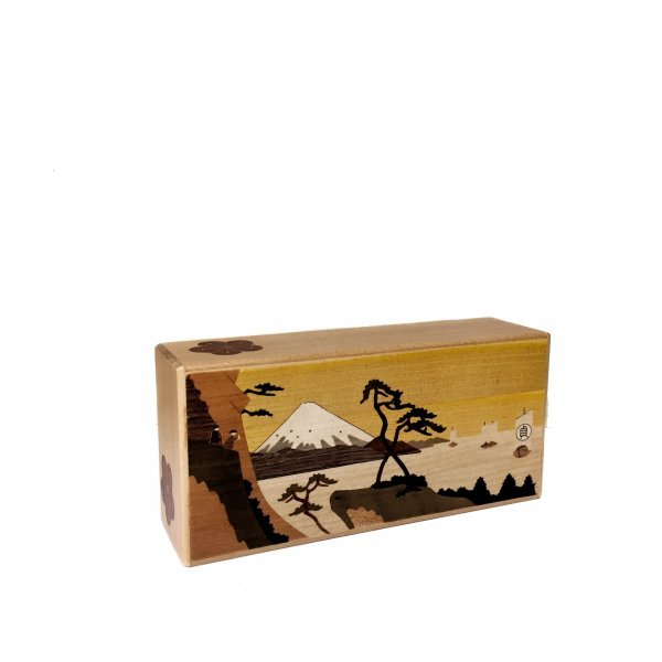 箱根寄木細工 秘密箱 7寸7回仕掛け薄型 200万型由比|maaoyama