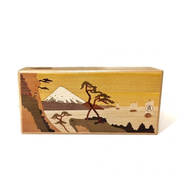 箱根寄木細工 秘密箱 7寸7回仕掛け薄型 200万型由比|maaoyama|02