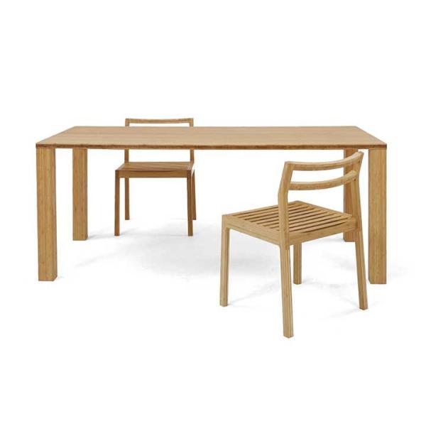 竹集成材のダイニングテーブル SOLID Dining Table W1500xD850xH720mm TEORI|maaoyama