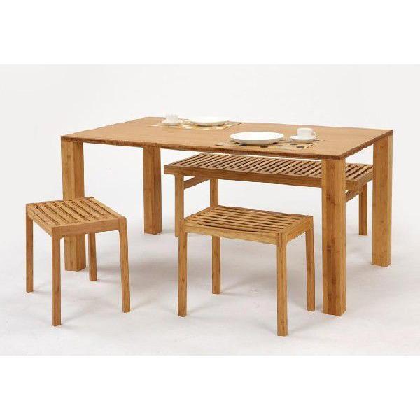 竹集成材のダイニングテーブル SOLID Dining Table W1500xD850xH720mm TEORI|maaoyama|05