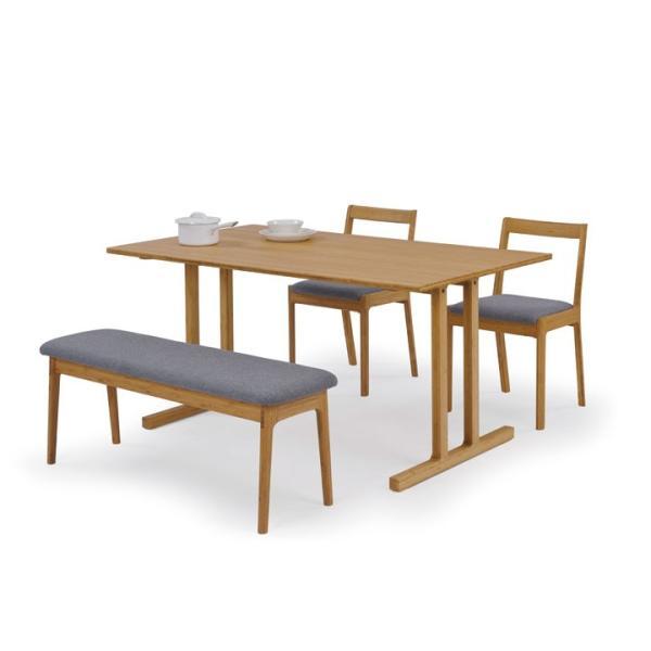 竹集成材のダイニングテーブル Wing Table W1800xD850xH720mm TEORI|maaoyama|03
