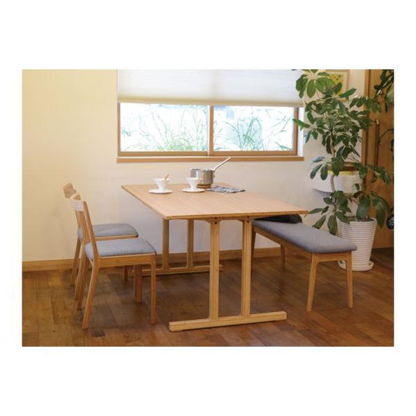 竹集成材のダイニングテーブル Wing Table W1800xD850xH720mm TEORI|maaoyama|04