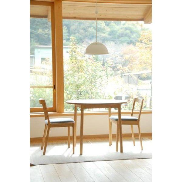 竹集成材のダイニングテーブル Round Table φ900xH700mm TEORI|maaoyama|02