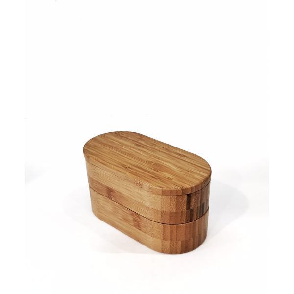 竹製の楕円形二段弁当箱|maaoyama|02