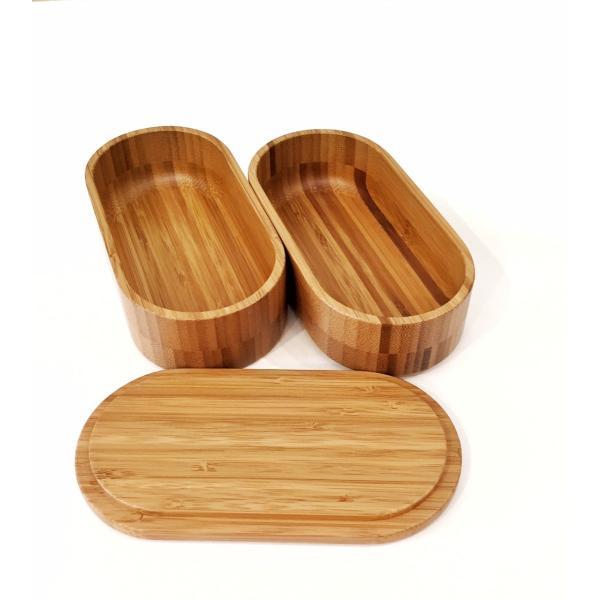 竹製の楕円形二段弁当箱|maaoyama|03