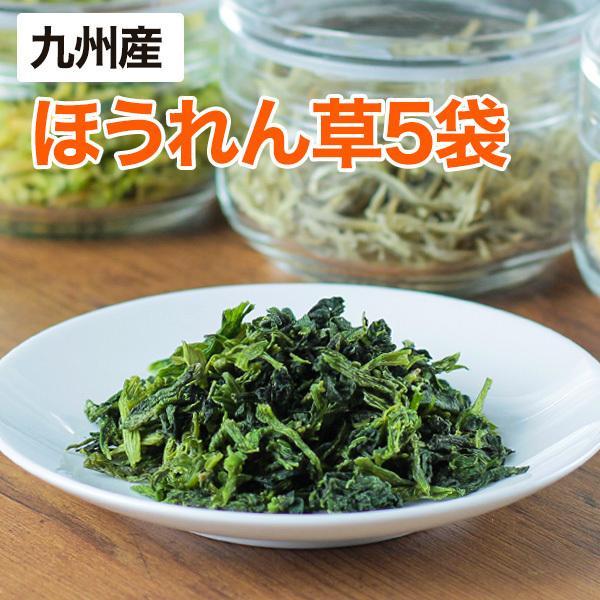 乾燥野菜 ほうれん草 5袋セット 1袋18g 生野菜200g相当  九州産野菜 長期保存が可能 非常食 保存食 備蓄食