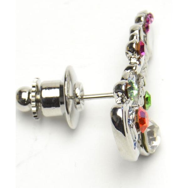 タックピン キラキラエレキギターデザイン キヤスト トリコカラー シルバー地カラー かわいいタックピン f-tap298