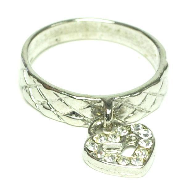 キャスト リング シルバーカラー ハート チャーム 指輪 レディース かわいい アクセサリー p30-ri2148