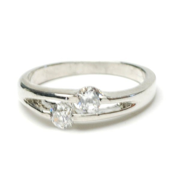 2 ラインストーン エレガント リング 指輪 レディース アクセサリー p30-ri742