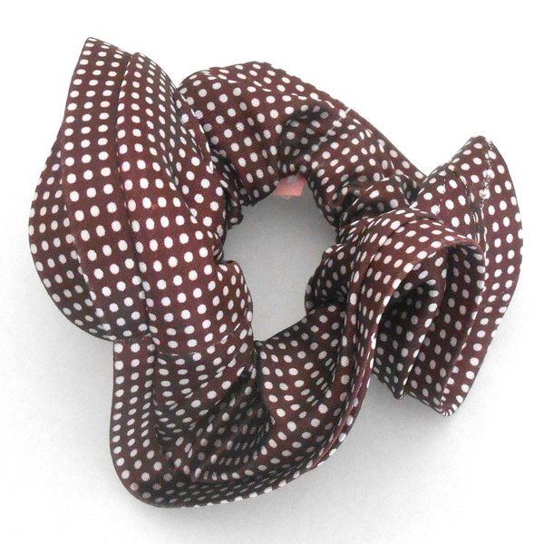 シュシュ パイピン ドット かわいい つるつるサテン ドーナツ 髪留め レディス ガーリー p30-shu203