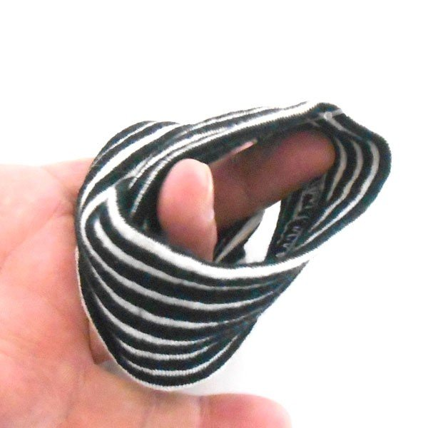 ヘヤーターバン シンプルニット ストライプ 髪留め ヘヤーバンド カチューム 細幅ターバン p30f-tb68