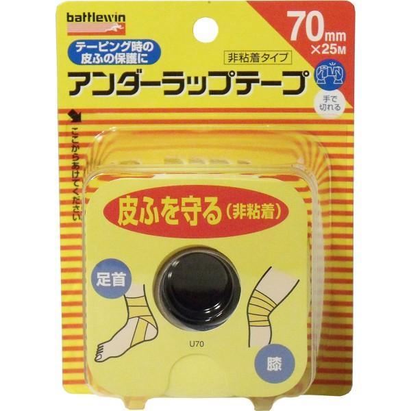 普通郵便送料無料 ニチバン バトルウィン アンダーラップテープ U70F 70mm×25m 1巻入 非粘着テープ