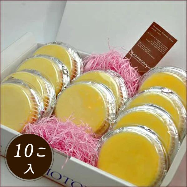 観音屋デンマークチーズケーキ10個入り神戸名物神戸チーズケーキスイーツオーブントースターご当地生チーズ秘密のケンミンショー
