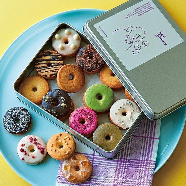 koe donuts クッキー缶 1個 コエドーナツ クッキー 詰め合わせ ギフト 缶 ドーナツ アイシングクッキー スイーツ お菓子 洋菓子 焼き菓子 おしゃれ