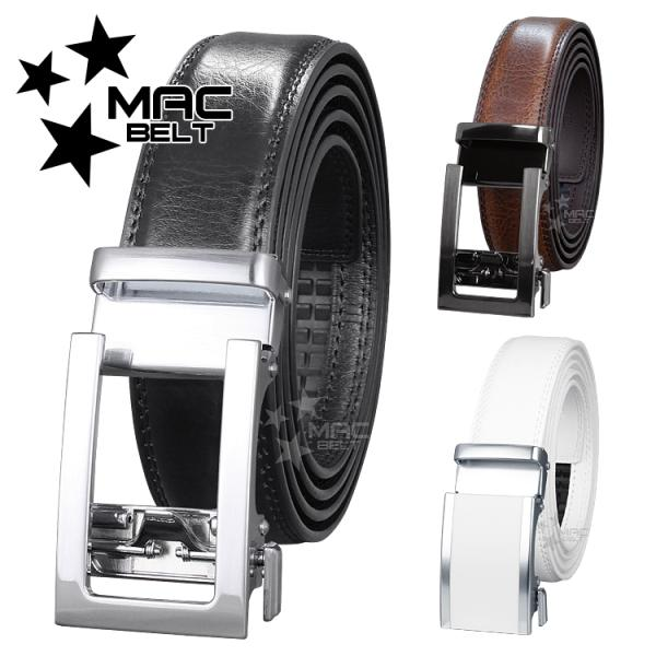 ベルト メンズ 革 MACBELT マックベルト 牛革 ビジネス ベルト メンズ 送料無料 3cm幅 MB3