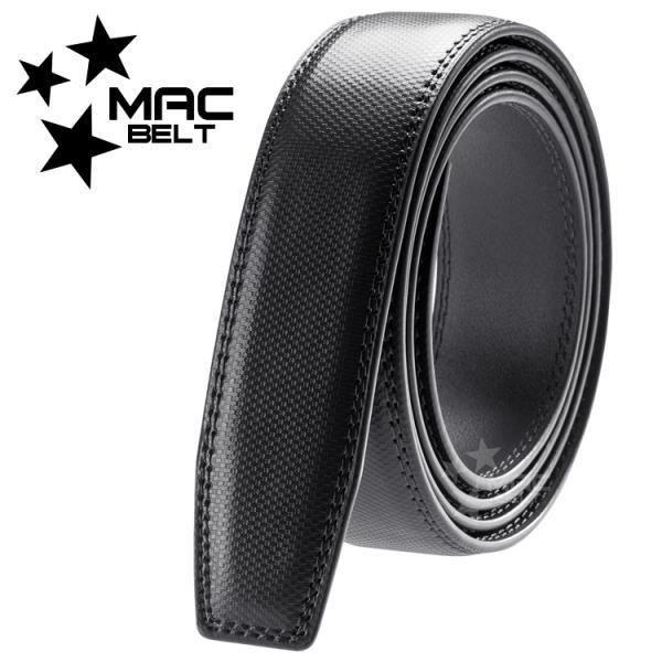 ベルト メンズ 革 MACBELT マックベルト 穴なし スライド式 牛革 ビジネス スペアベルト メンズ 簡単ウエスト調整 大きいサイズ 送料無料 MBF-SB