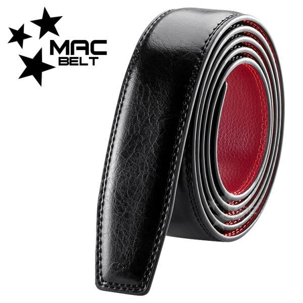 ベルト メンズ 革 MACBELT マックベルト 穴なし スライド式 牛革 ビジネス スペアベルト メンズ 簡単ウエスト調整 大きいサイズ 送料無料 MBRB-SB