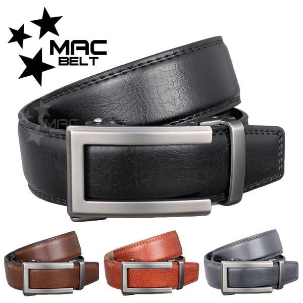 ベルト メンズ 革 MACBELT マックベルト 牛革 ビジネス ベルト メンズ 送料無料 MBS-481gy