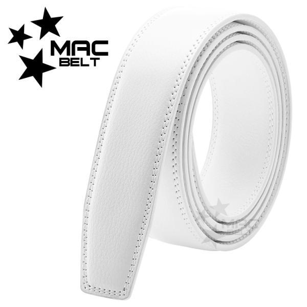ベルト メンズ 革 MACBELT マックベルト 穴なし スライド式 牛革 ビジネス スペアベルト メンズ 簡単ウエスト調整 大きいサイズ 送料無料 MBW-SB