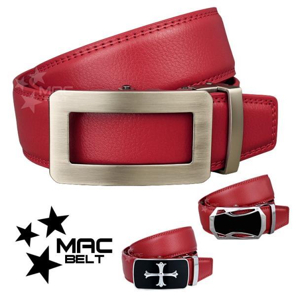 ベルト メンズ 革 MACBELT マックベルト 牛革 ビジネス ベルト メンズ 送料無料 MBZ-RD