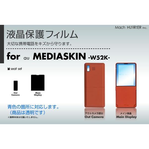 W52K液晶保護フィルム 3台分セット