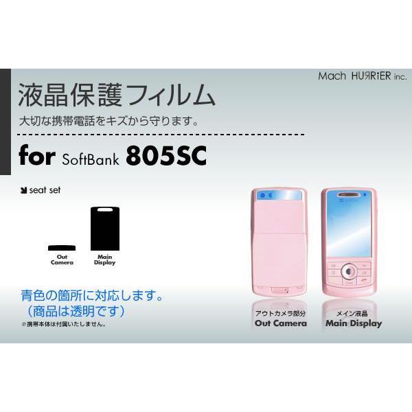 805SC液晶保護フィルム 3台分セット