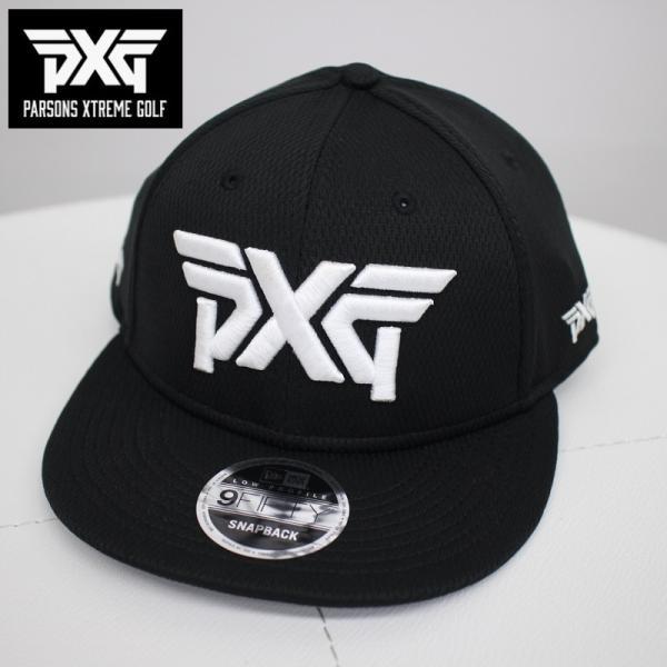 PXGGOLFNEWERAゴルフフラットキャップブラックフリーサイズ黒帽子パーソンズエクストリームゴルフピーエックスジーPARS