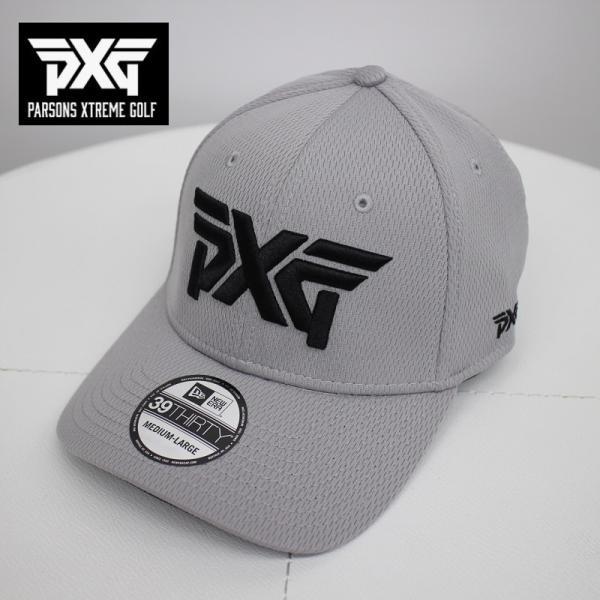 PXGGOLFNEWERAゴルフキャップグレーMからLサイズフレックスフィット帽子パーソンズエクストリームゴルフピーエックスジー