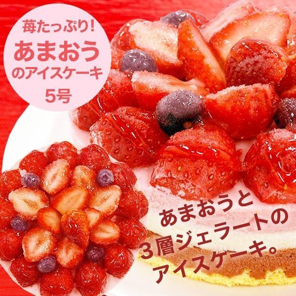 苺たっぷり/あまおうのアイス ケーキ(5号)誕生日ケーキ/送料無料/ジ ェラート/いちご|made-in-japan