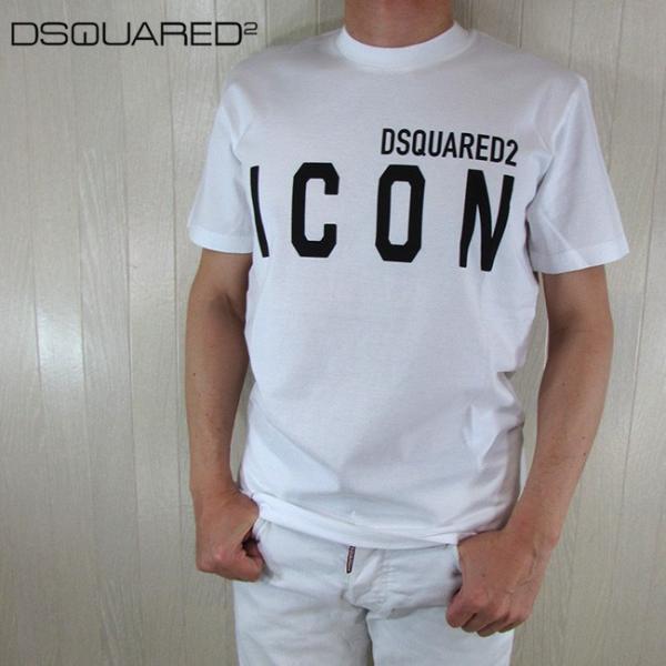 ディースクエアード DSQUARED2  メンズ 半袖 Tシャツ アイコン S79GC0001 / 100 / ホワイト 白 サイズ:S〜XL