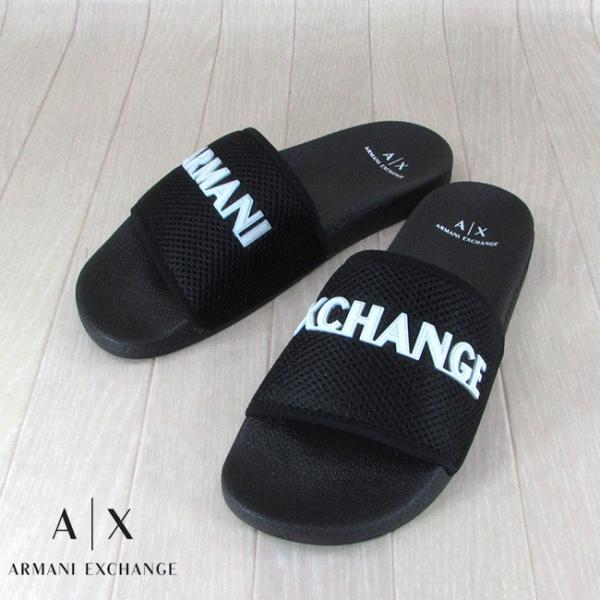 アルマーニエクスチェンジ A/X Armani Exchange サンダル シャワーサンダル フラットサンダル XUP001 XV087 / A120 / ブラック 黒 サイズ:40〜44