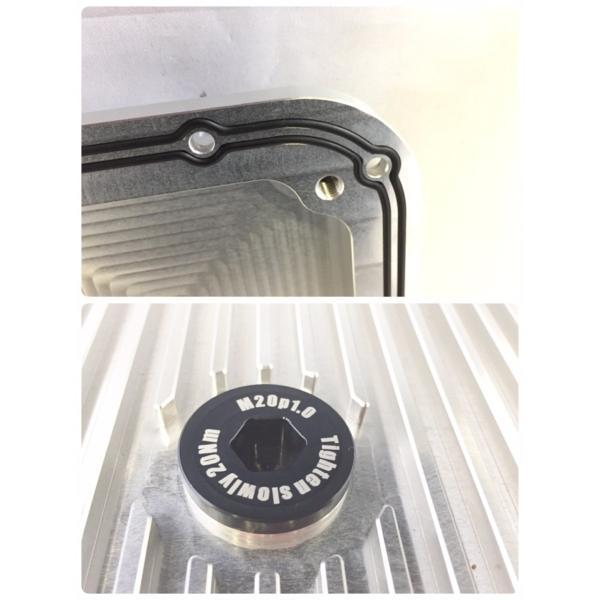 オイルパン ランチア デルタ インテグラーレ用 白色 lancia delta Integrale アルミ削り出し アルマイト仕上|maekawaengineering1|04