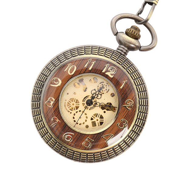 【エスピー】懐中時計 PWA008−GLD ポケットウォッチ 手巻き 機械式時計 メンズ時計