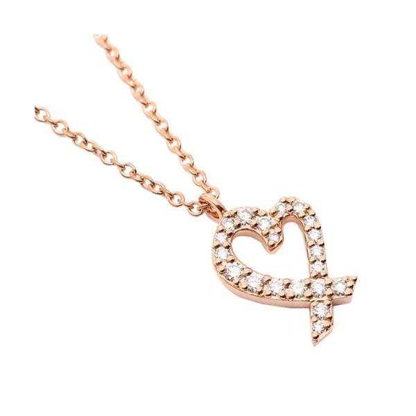 【ティファニー】ティファニー ネックレス アクセサリー TIFFANY&Co. 26187869 ダイヤモンド ラビングハート スモール 16IN 1