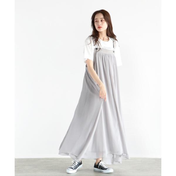 ラシュッド  LASUD レースアップデザインジャンパースカート