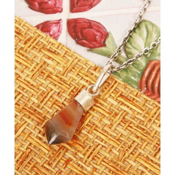 【ワイスチャーム】【メキシコ1点もの天然石】天然石×オレンジネックレス