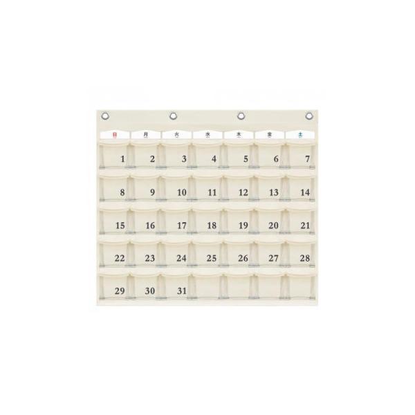 日本製 SAKI(サキ) カレンダーポケット Mサイズ W-416 オフホワイト   収納ケース クリアポケット ディスプレイ
